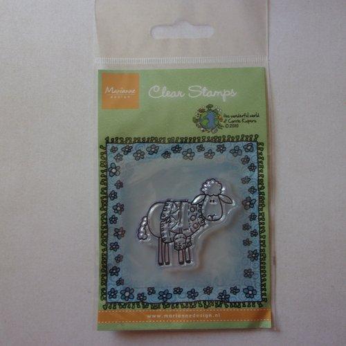 Tampon clear acrylique marianne design décoration scrapbooking animaux mouton