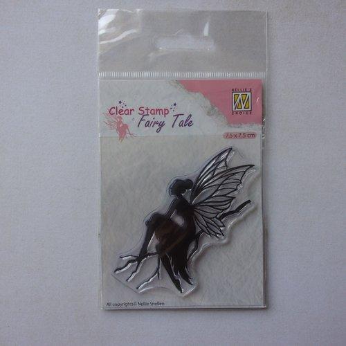 Tampon clear acrylique nellie snellen choice décoration scrapbooking fille fée féerique fantastique fairies