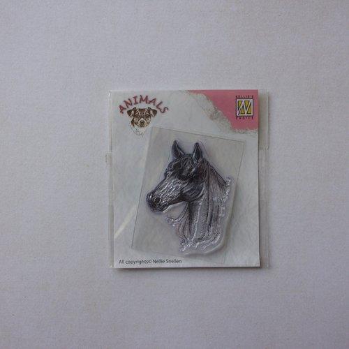 Tampon clear acrylique nellie snellen choice décoration scrapbooking animaux animal cheval poney équidé