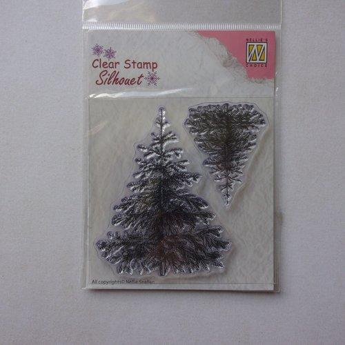 Tampon clear acrylique nellie snellen choice décoration scrapbooking nature hiver neige arbre sapin