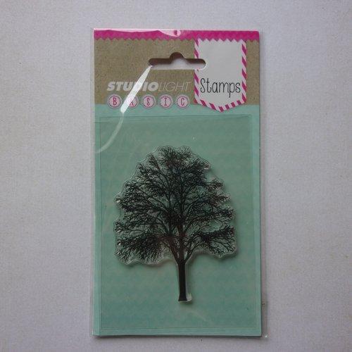 Tampon clear acrylique studiolight décoration scrapbooking nature arbre