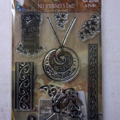 Tampon clear acrylique joy crafts décoration scrapbooking polynésien animaux marin raie totem