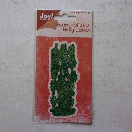 Die cuts découpe matrice en métal joy crafts scrapbooking noël feuilles houx
