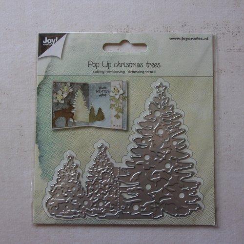 Die cuts découpe matrice en métal joy crafts scrapbooking arbre sapin hiver coin pliage de carte