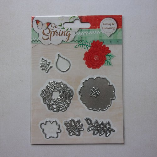 Die de découpe matrice en métal studiolight scrapbooking nature floral fleurs et feuillages