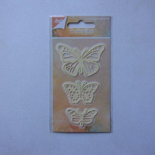 Die cuts découpe matrice en métal joy crafts scrapbooking animaux insecte 3 papillons