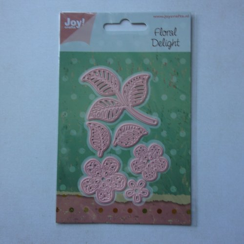 Die cuts découpe matrice en métal joy crafts scrapbooking nature fleurs et feuilles doodles