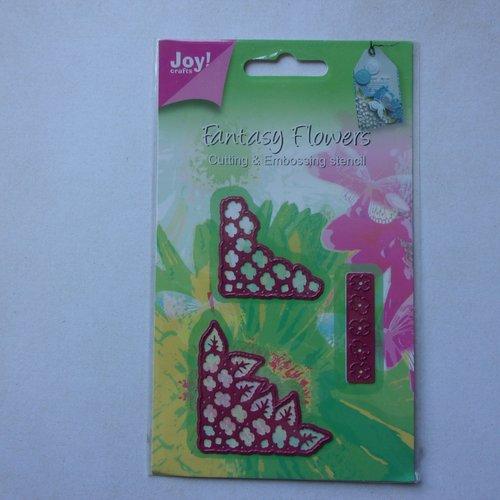 Die cuts découpe matrice en métal joy crafts scrapbooking petites fleurs coin fleurie floral