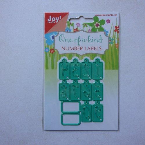 Die cuts découpe matrice en métal joy crafts scrapbooking étiquette tag chiffre