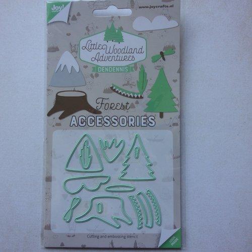 Die cuts découpe matrice en métal joy crafts scrapbooking petit arbre sapin tronc paysage montagne