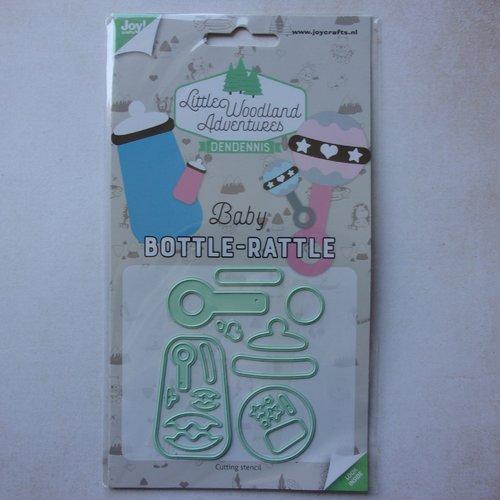 Die cuts découpe matrice en métal joy crafts scrapbooking bébé naissance accessoire biberon hochet