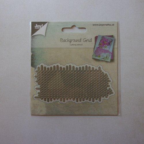 Die cuts découpe matrice en métal joy crafts scrapbooking fond trait ligne carreaux