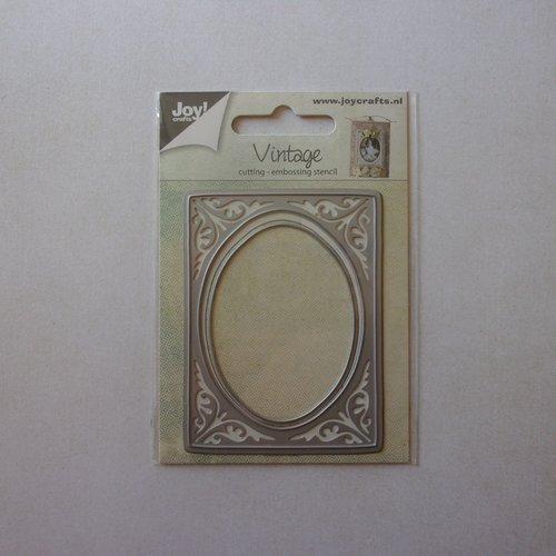 Die cuts découpe matrice en métal joy crafts scrapbooking petit rectangle vintage ovale cadre