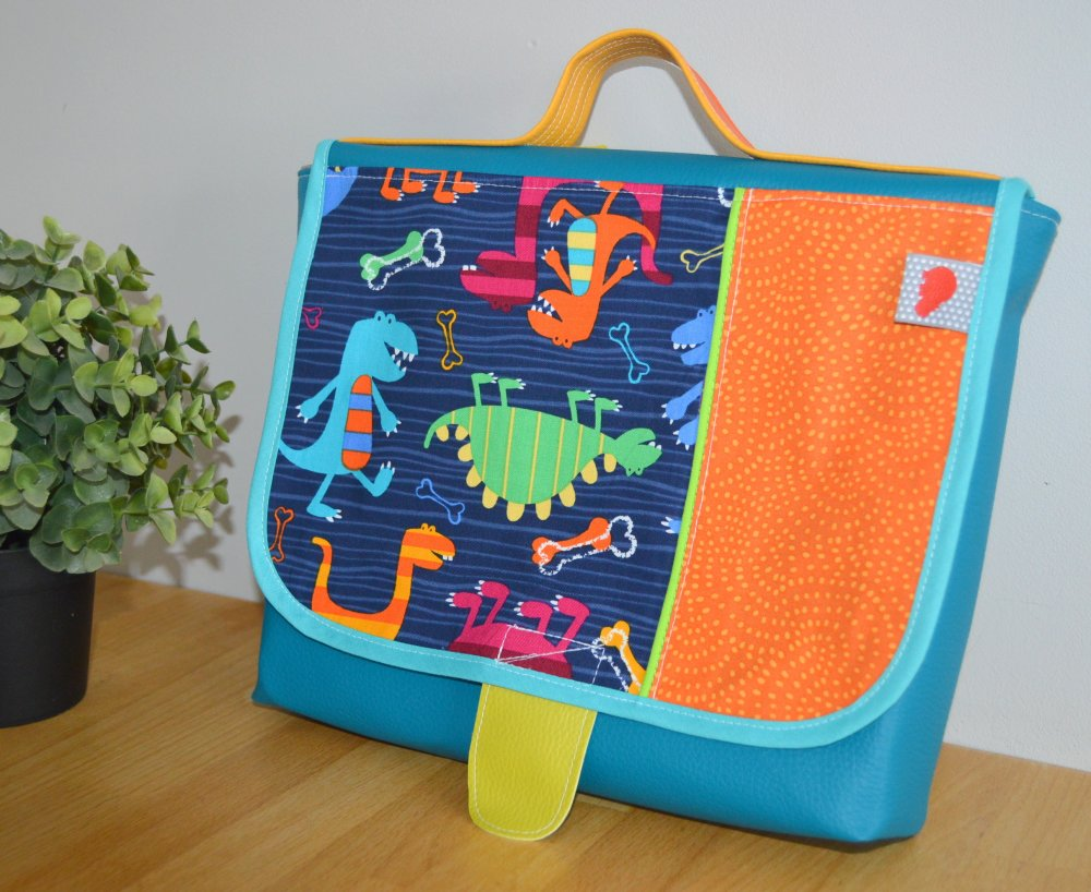 Cartable maternelle Dinos multicolores
