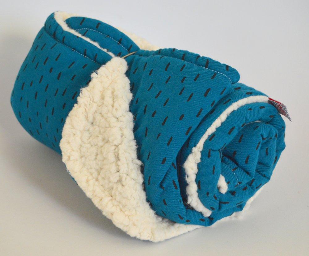 Couverture bleue mouton