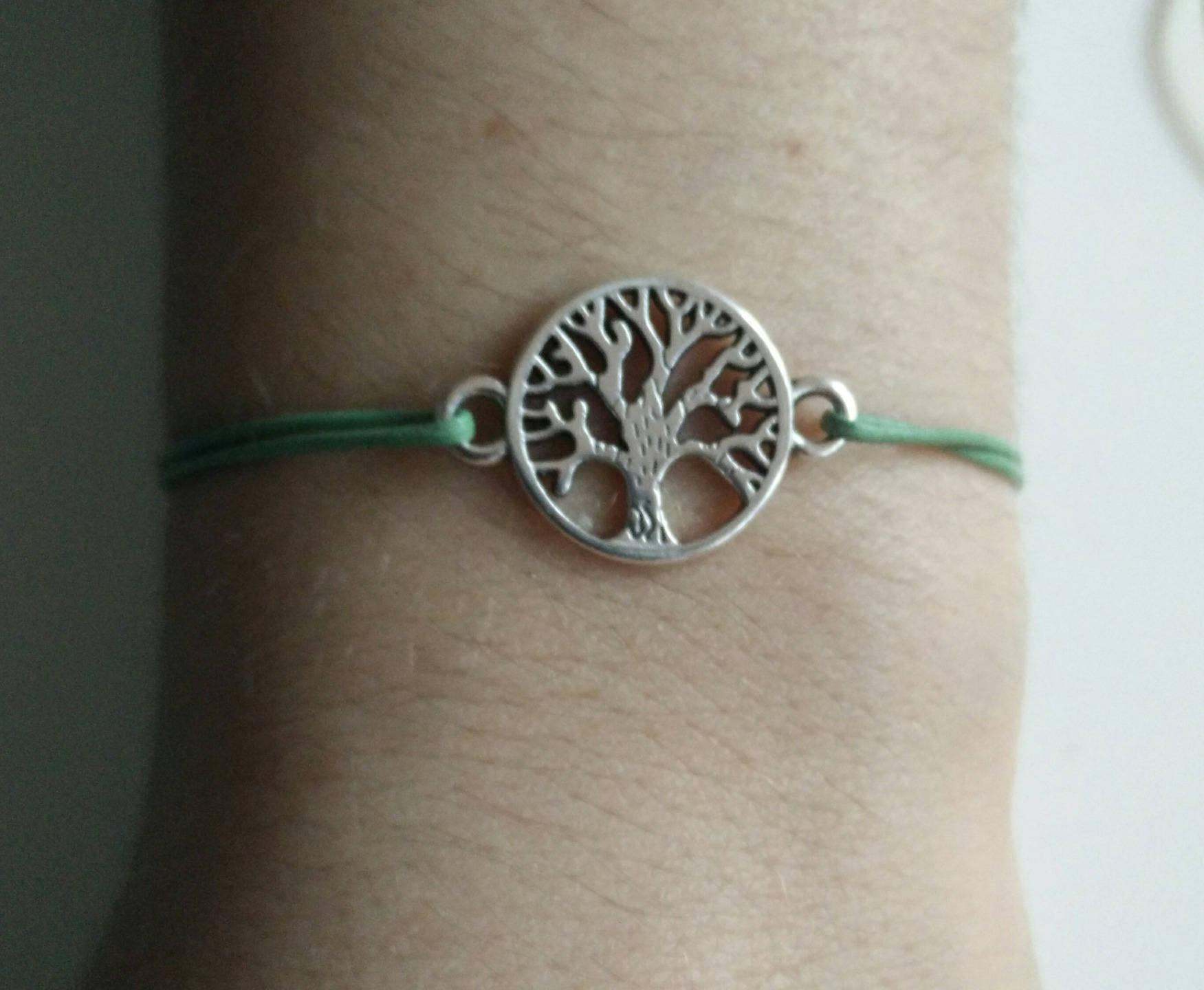 arbre de vie bracelet cuir