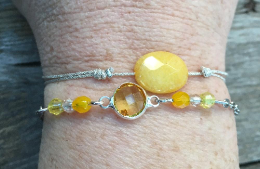 Bracelets  argent et jaune