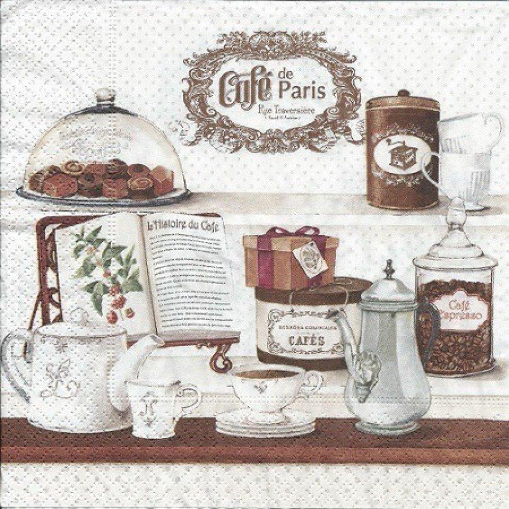 1 SERVIETTE EN PAPIER CUISINE - CAFÉ DE PARIS - REF 144
