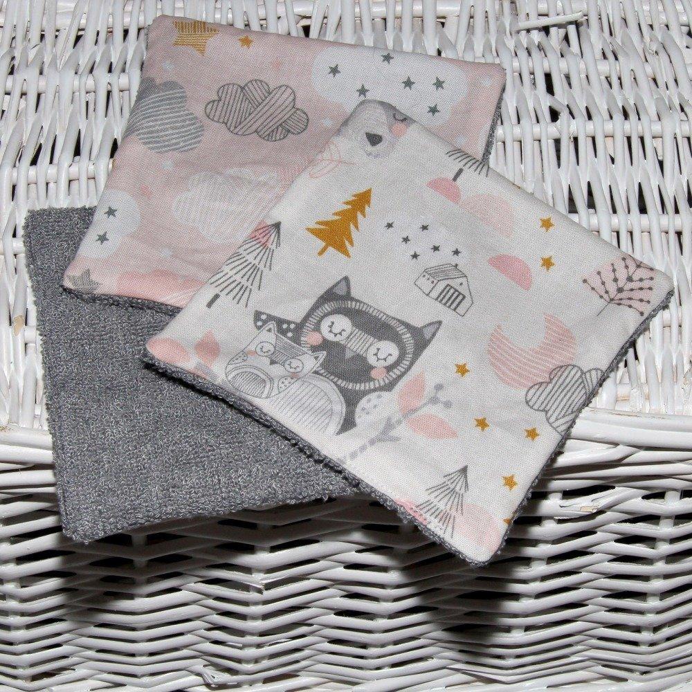 "Lingettes lavables bambou - Oeko Tex - Collection ""Animaux Rêveurs"""