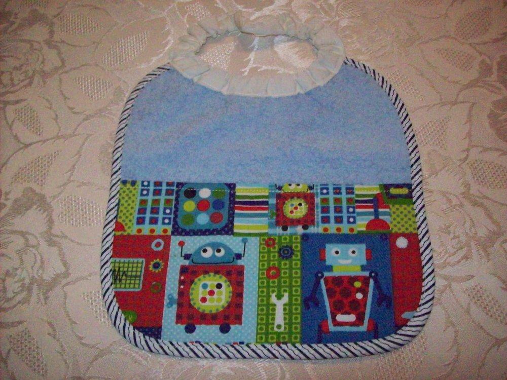 bavoir pour bébé taille naissance;motifs petits robots