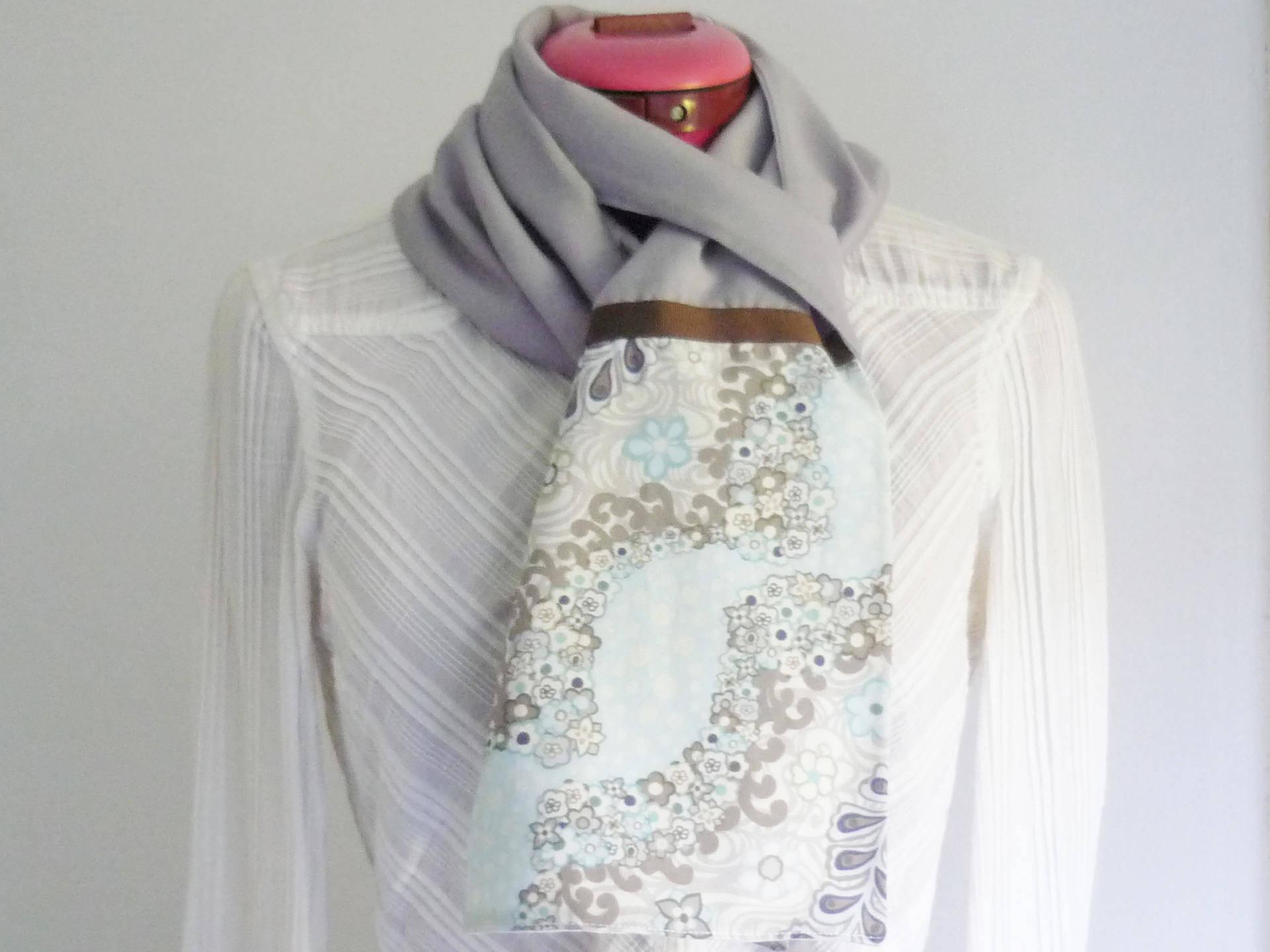 Foulard Esprit Japonais (modèle 05) - modèle unique - Foulard écharpe réversible en coton