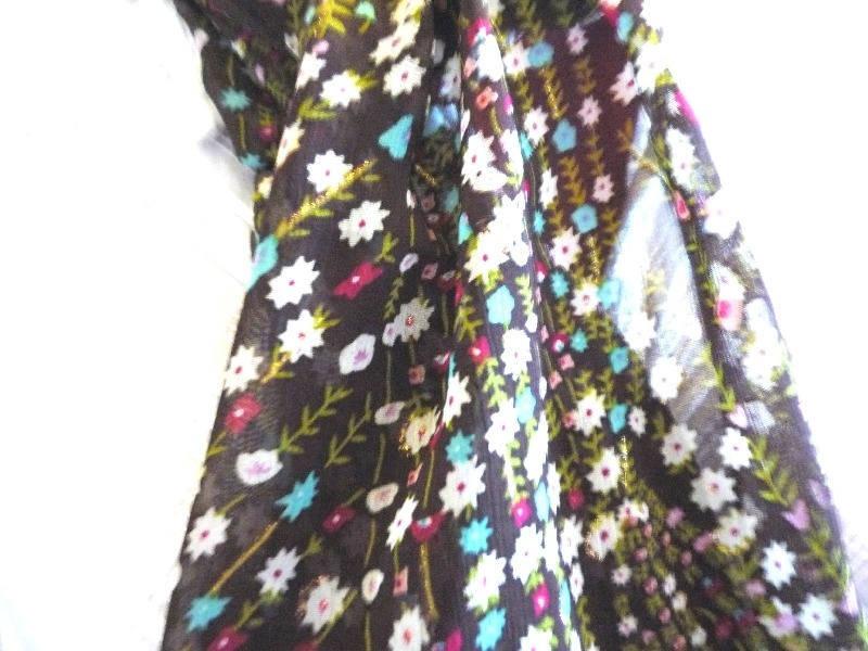 Foulard La petite étole à fleurs (modèle 25)