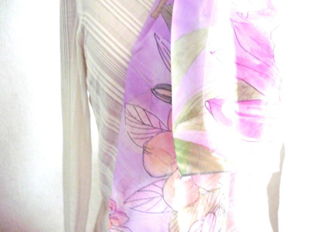Foulard La petite étole fleurs (modèle 21)