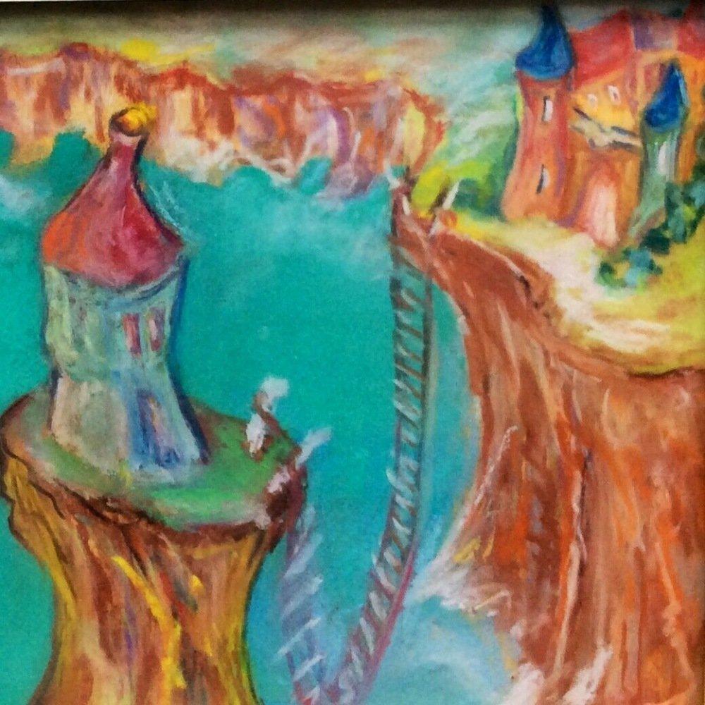 La Tour de guet : peinture originale de Catherine Rivory