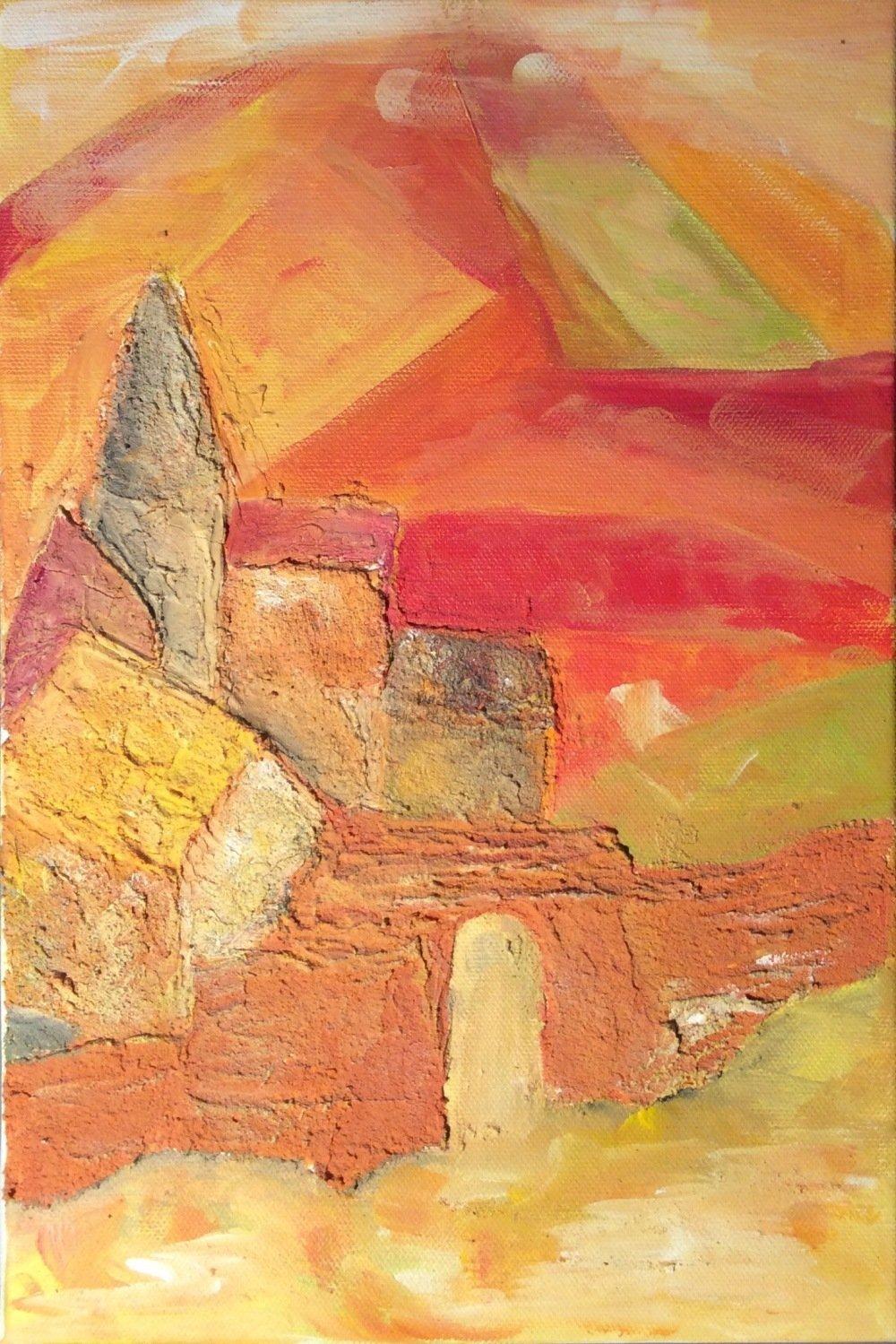 Les couleurs de la vigne : peinture originale de Catherine Rivory
