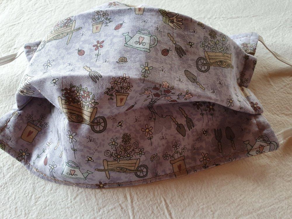 Masque de protection visage en coton lavable