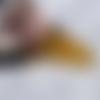Pendentif sculpté en ambre du mexique - calaveras