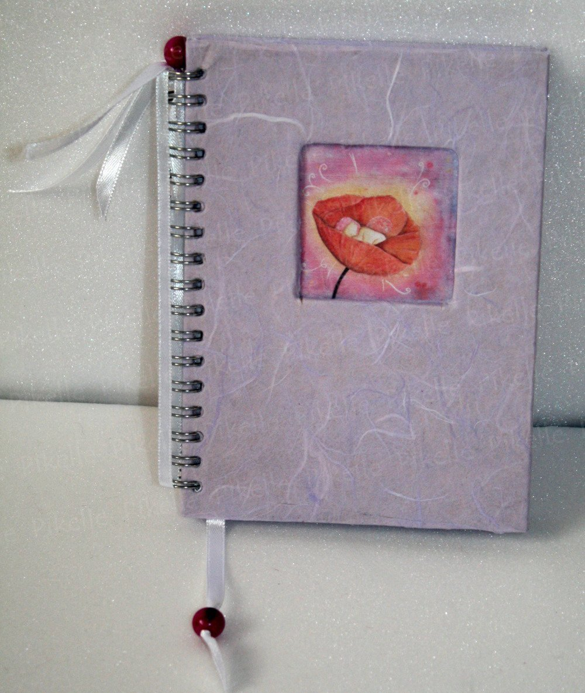 Carnet vierge féérique, bébé coquelicot, carnet/journal de grossesse, de naissance,...