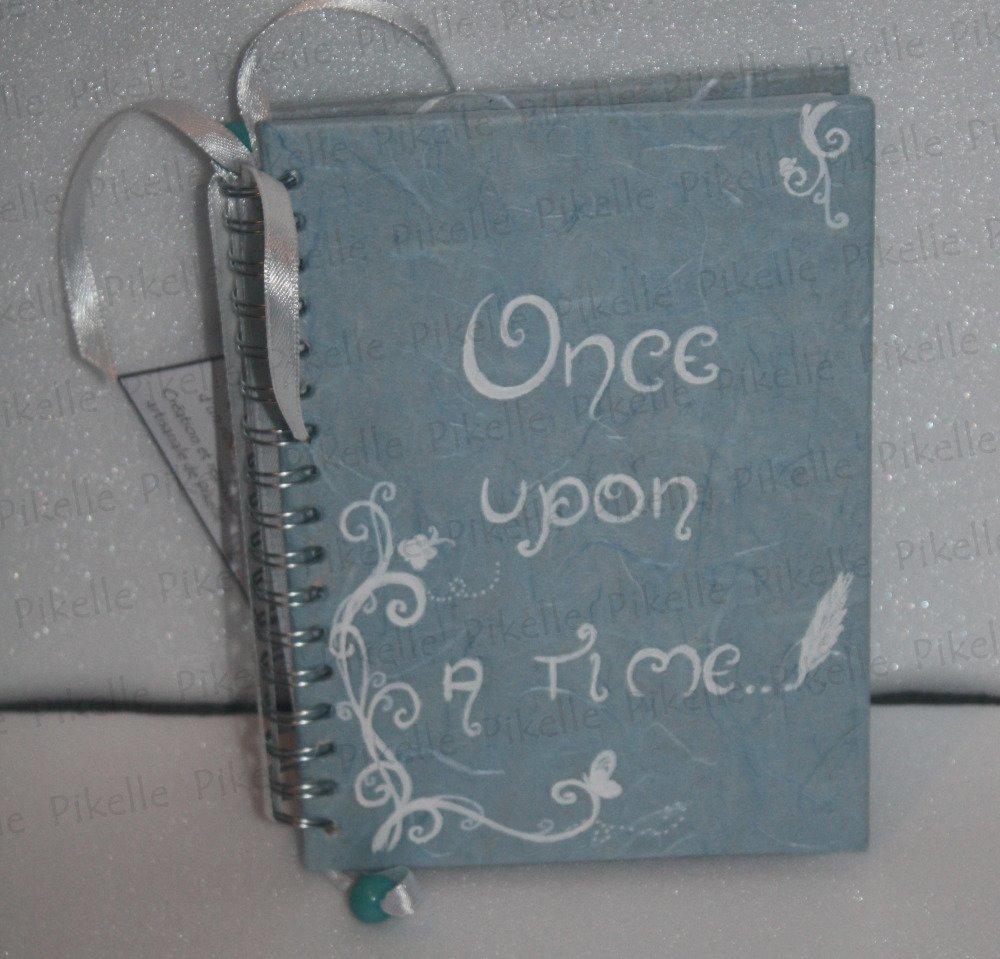 """Carnet féérique bleu à spirale """"once upon a time"""""""