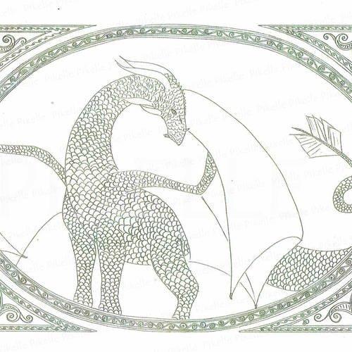 Coloriage Anti Stress Illustration Dragon Un Grand Marche