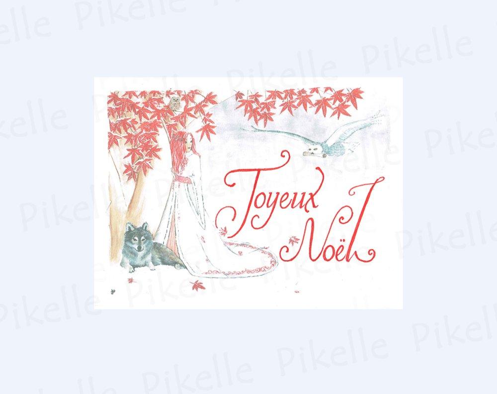 Carte de voeux  Zyma, esprit de l'hiver- Joyeux Noël