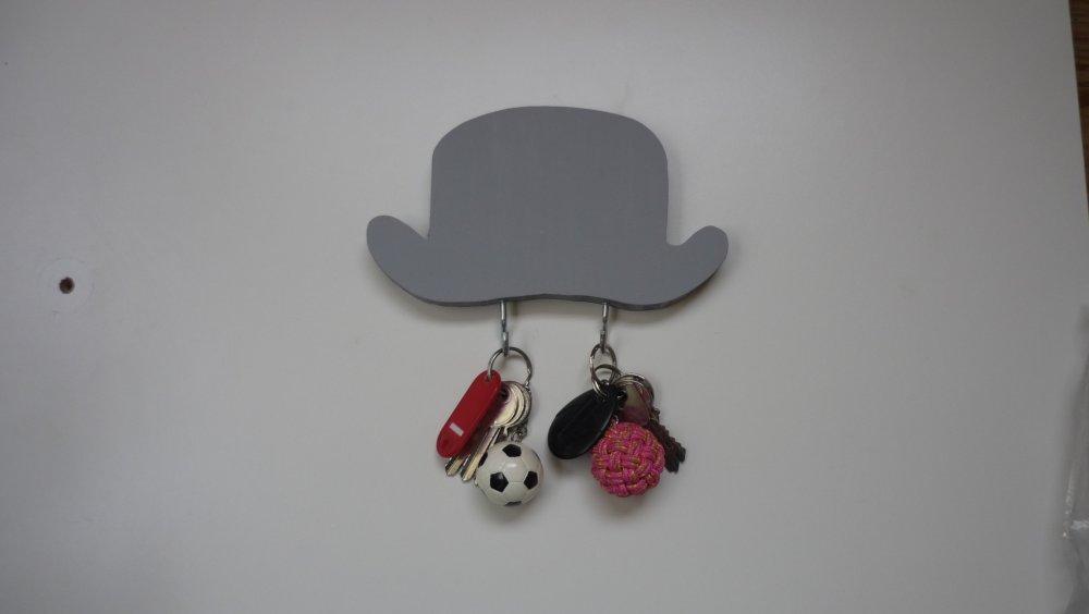 Porte-clefs mural chapeau melon