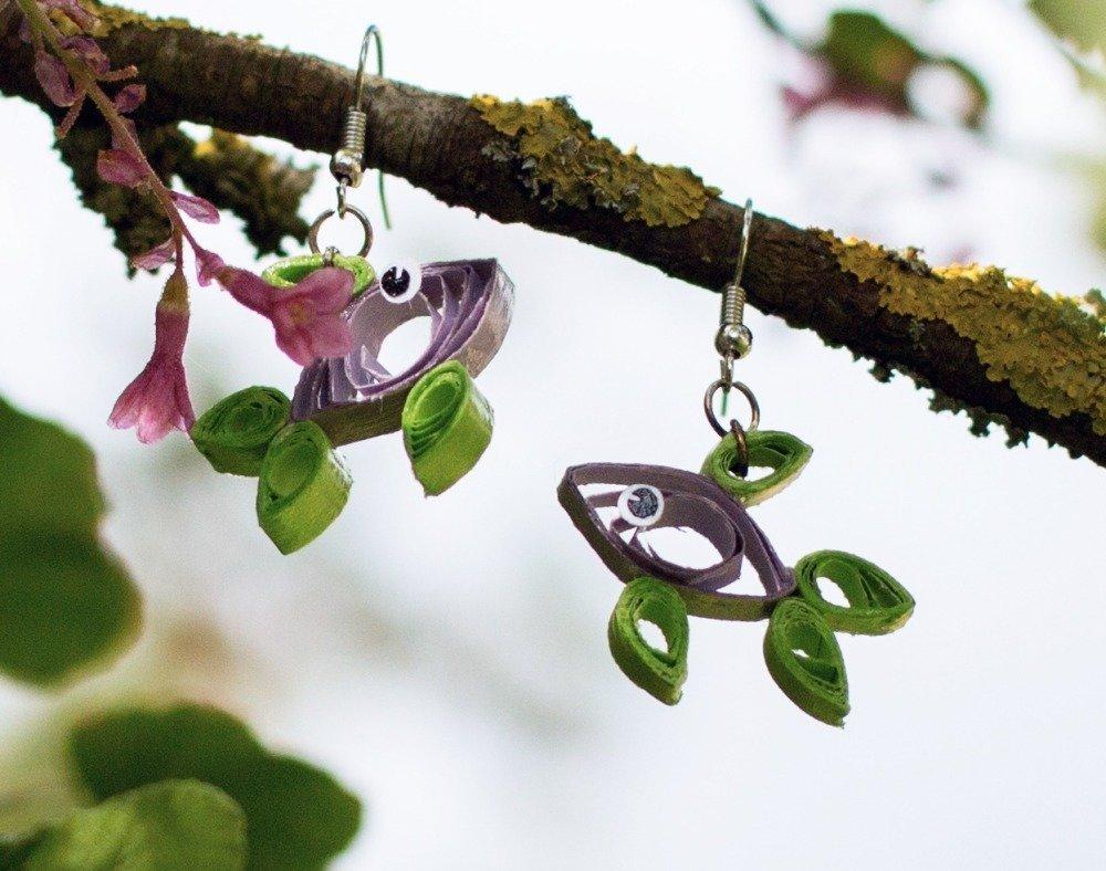 Poissons  - boucles d'oreilles pendantes