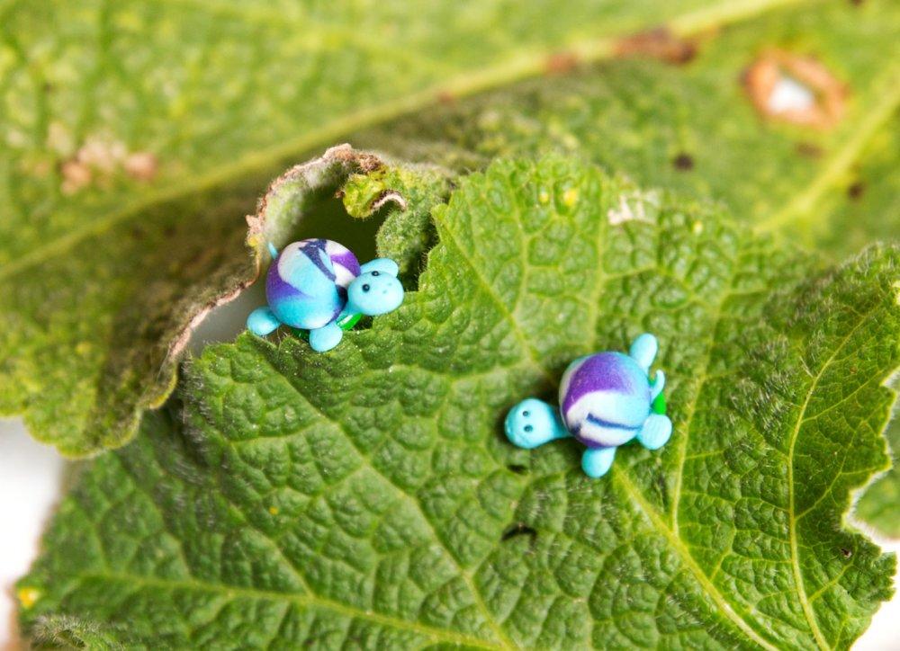 Tortues - puces - boucles d'oreilles [- animal -]
