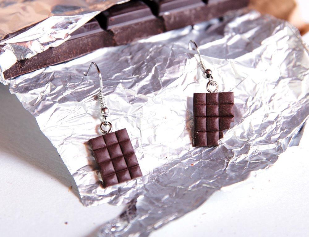 Chocolats gourmands - Boucle d'oreille [- nourriture -]