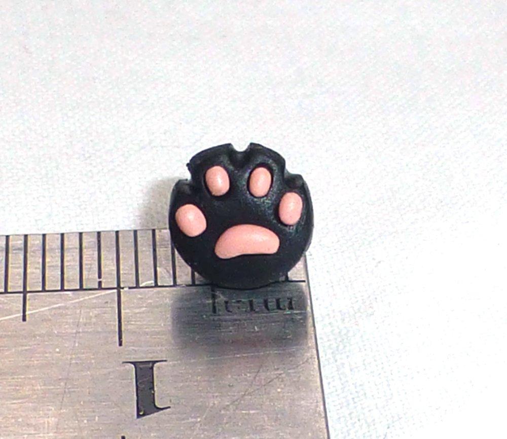 Pattes de chat noir - Boucle d'oreille non pendante, puce