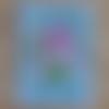 """Carte anniversaire femme """"géranium"""" en 3d"""
