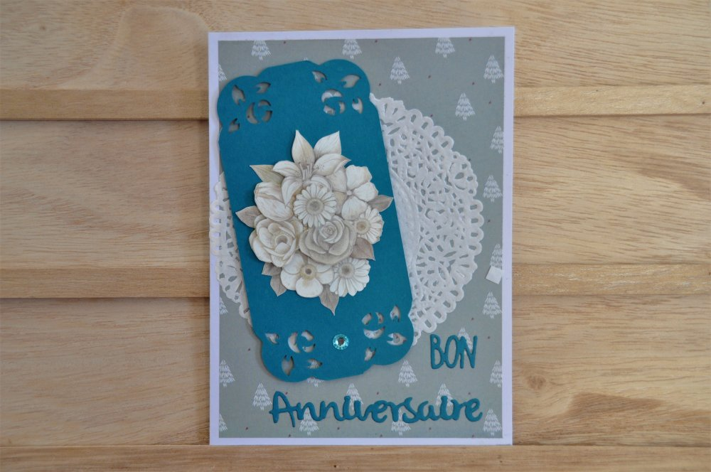 """Carte d""""anniversaire femme""""bouquet de fleurs"""" en 3d"""