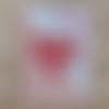 Carte amour pour déclaration,saint valentin,coeur ouvragè