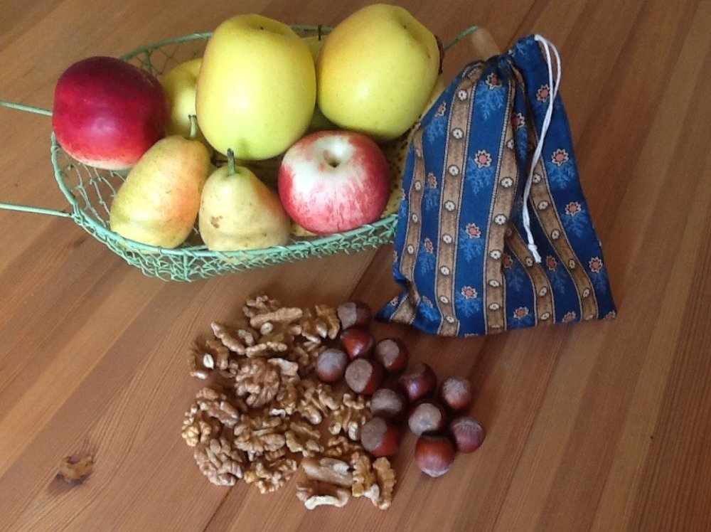 Sac à vrac en coton, sac à fruits et légumes, sac zéro déchet, sac à courses réutilisable, écologie, sac tissu