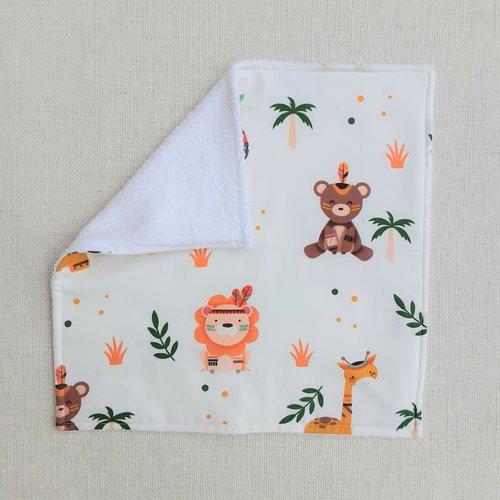 Serviette de table enfant - serviette de cantine lionceau