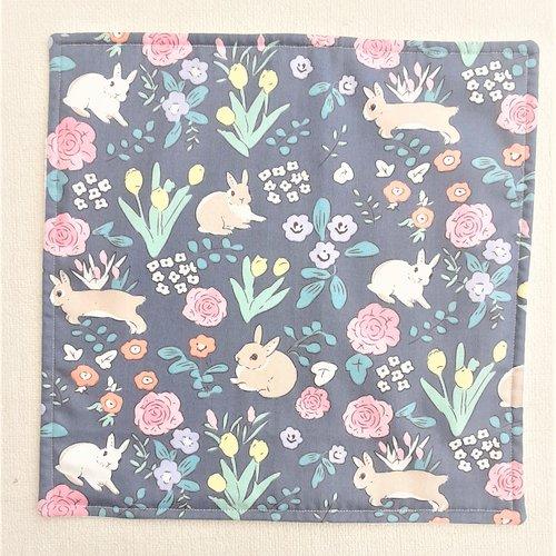 Serviette de table enfant - serviette de cantine - lapins