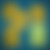 Lot de 5 maxi lingettes lavables ou debarbouillettes 15 x 15 cm coton / éponge motif  toucans