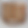 Collier perle marbré doré vert rose
