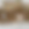 Sautoir  argentée perles de verre blanches