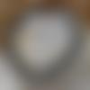 Bracelet perle pierre de lave et argentée
